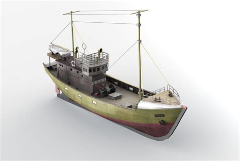 Fishing Boat Model by 3d Model Kuter B 25 Fishing Boat B 25 Class Vr Ar