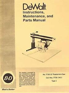 Dewalt Powershop 7730 10 U0026quot  Radial Arm Saw Instruction