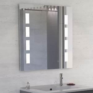 miroir anti buee mosaic 80x80 cm eclairage integre a led With miroir led anti buée