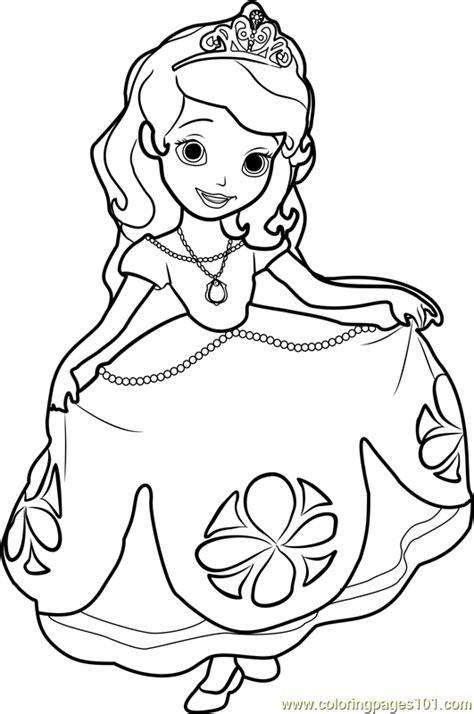 princess sofia coloring page free disney princesses coloring pages coloringpages101