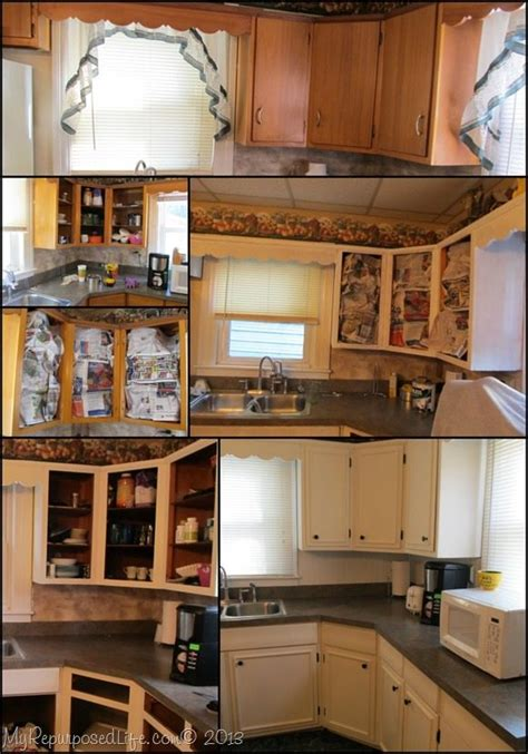 how to update old kitchen cabinets kitchen cabinets updated with paint trim my repurposed