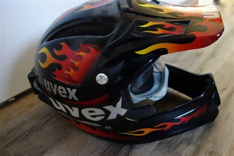 Uvex Downhill Helm Mit Brille Kult Retro Flammen