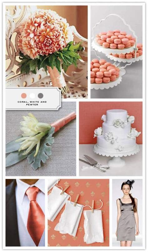 racquels blog coral pewter mint inspiration board peach