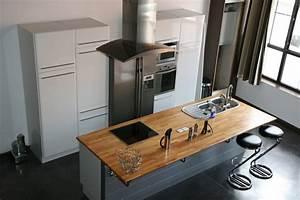 Petit ilot central cuisine central cuisine de france oven for Idee cuisine