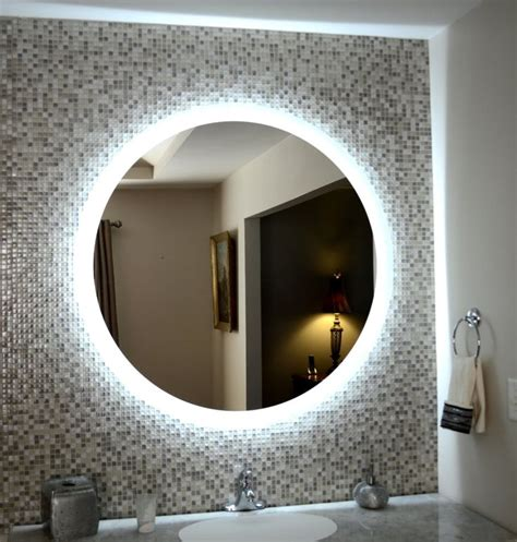 side lighted led bathroom vanity mirror  wide