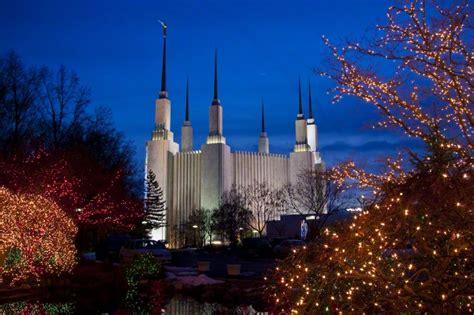 washington dc christmas lights washington d c temple at christmas