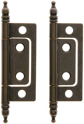 pair    mortise cabinet hinges  oil rubbed bronze house  antique hardware