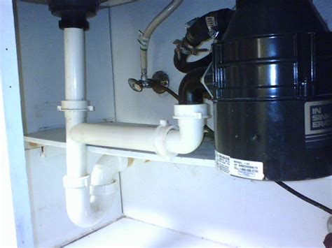 plumbing a garbage disposal in a double sink double kitchen sink w garbage disposal and dishwasher