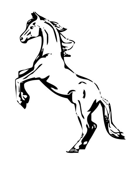 Horse Coloring Pages Mustang Horse Coloring Pages Kids