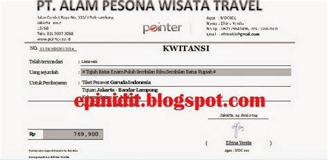 contoh invoice tiket pesawat marhaban ya ramadhan