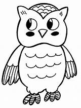 Owl Coloring Pages Printable Animals Print sketch template