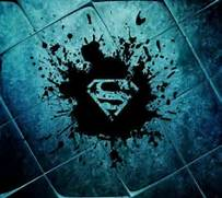 superman logo wall...