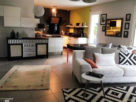 deco salon et cuisine ouverte decoration cuisine ouverte salon