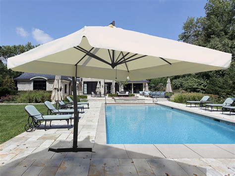Large Fim Cantilever Patio Umbrella by Fim P Series Aluminum 10 X 13 Crank Lift Cantilever