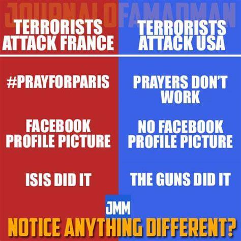 Meme France - brutal meme compares paris vs san bernardino attacks