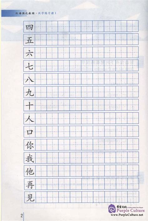 intensive chinese  chinese characters writing