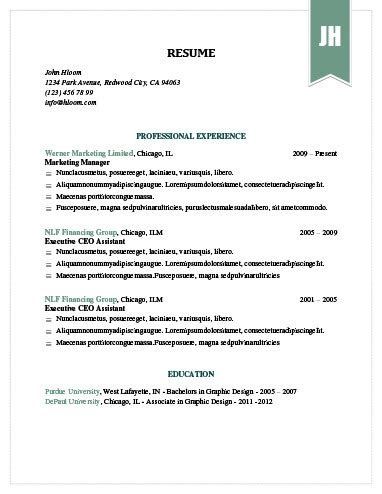 Proper Resume Template by Simple Resume Templates 75 Exles Free Hloom