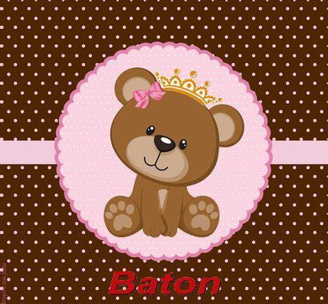 ursinha princesa rosa e marrom kit digital gratuito inspire sua festa 174 ursinha rosa e