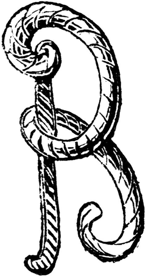 decorative letter b b letters clipart best 15692