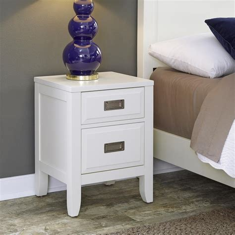 south shore reevo  drawer pure white nightstand