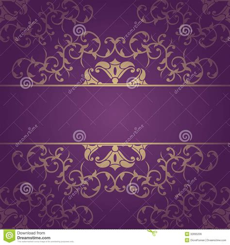 purple vector baroque flowers background royalty