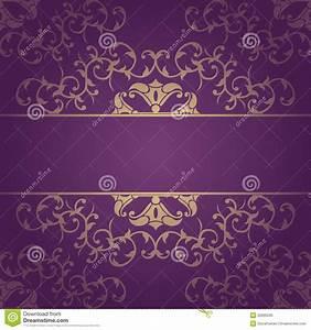 Purple Vector Baroque Flowers Background Stock Vector ...