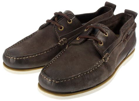 Rockport Deck Shoes Size 9 by Rockport Mens Deck Moccasin Brown Real Leather Boxed Boat