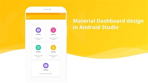 material home page design dashboard android studio