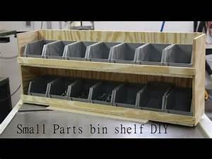 Shop Garage Storage, Small parts bin shelf DIY - YouTube