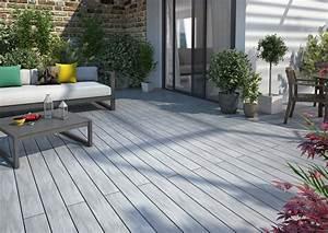 Sol Pour Terrasse : lame en bois composite pour une terrasse atmosph re ~ Edinachiropracticcenter.com Idées de Décoration