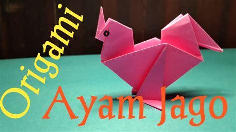 origami ayam  membuat origami ayam youtube