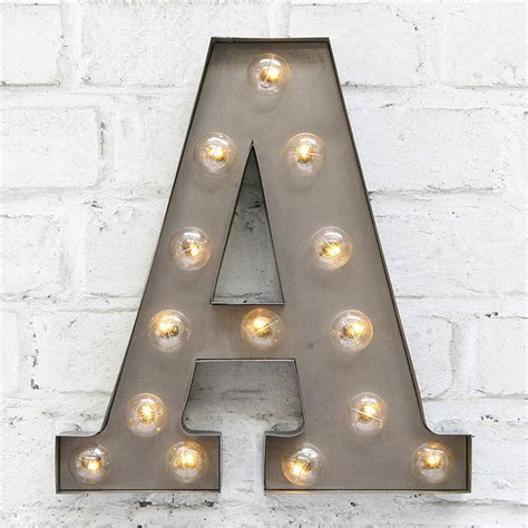 Carnival Letter Lights 'a To Z' Industrial Silver By ...