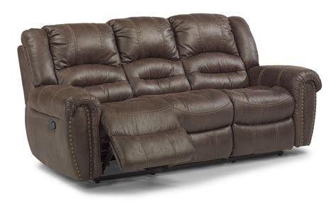 Flexsteel Power Reclining Loveseat by Flexsteel Latitudes Downtown 1710 62p Transitional Power
