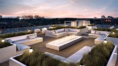 Modern House Plans Rooftop Patio