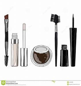 Set Of Makeup For The Eyes Stock Vector  Illustration Of