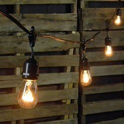 commercial edison drop string lights 50 clear bulbs 106