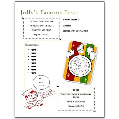 pizza coupon flyer