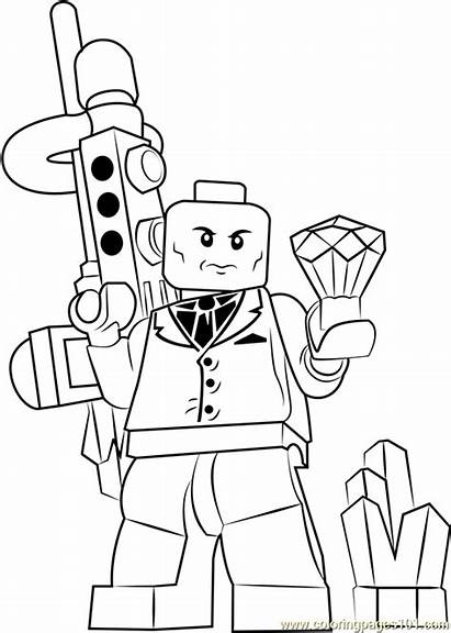 Lego Coloring Lex Luthor Pages Coloringpages101