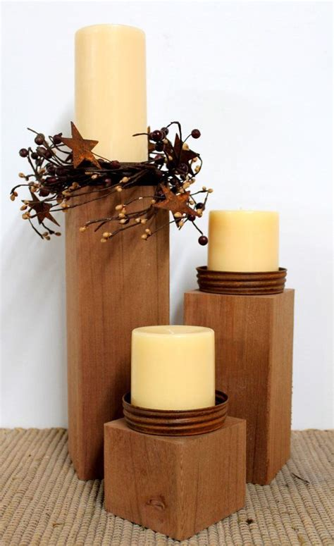 Primitive Decor Country Candle Holders Outdoor
