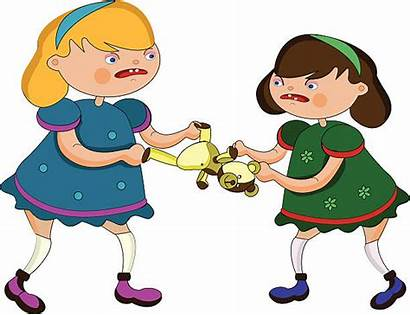 Fighting Clipart Siblings Child Vector Clip Sisters