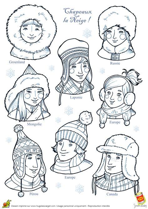 cuisine mongole coloriage les chapeaux neige sur hugolescargot com