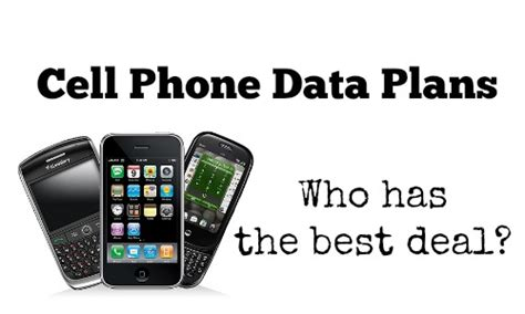 comparing smartphone data plans which is the best deal