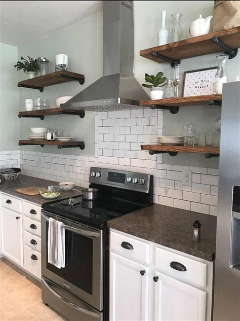 size floating shelves kitchen shelves industrial pipe