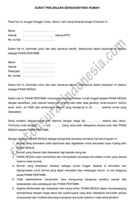 contoh kontrak perjanjian sewa menyewa telegraph