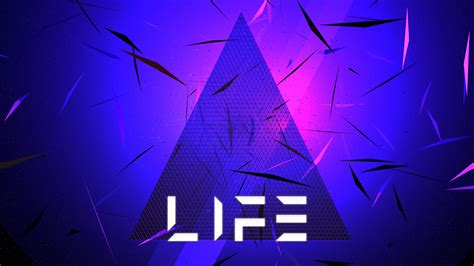 wallpaper life triangle neon  abstract
