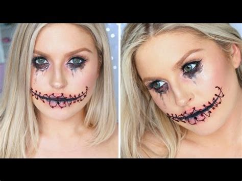 foto de Easy Halloween Stitched Up Mouth ♡ Using Only Makeup