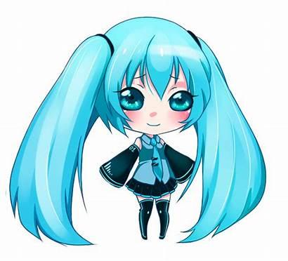 Chibi Miku Hatsune Anime Vocaloid Gifs Animation