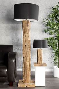 Lichtobjekte Aus Holz : design massivholz tischlampe stehlampe roots teakholz lampe h henverstellbar jetzt bei ~ Sanjose-hotels-ca.com Haus und Dekorationen