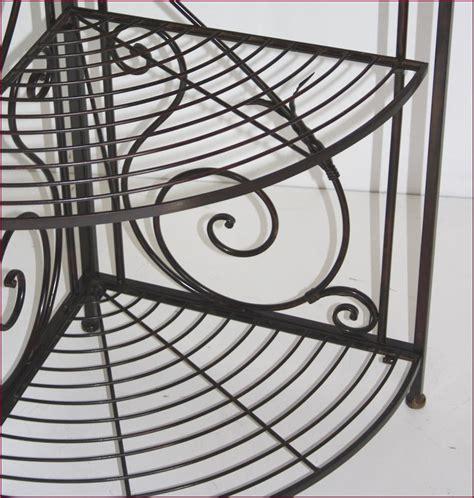etagere murale fer forge etagere boulangere console d angle de coin en fer forg 233 ideal cuisine salon ebay