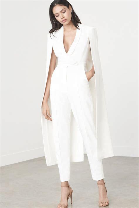LAVISH ALICE OFF WHITE TAILORED CAPE JUMPSUIT | My Style ...